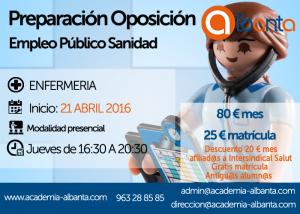 cartel oposicion ENFERMERIA sanidad