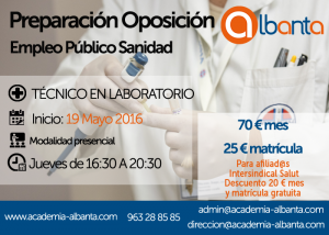 cartel oposicion TECNICO LABORATORIO sanidad copia
